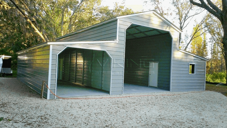 42x36x12 Vertical Roof Raised-Center Aisle Barn