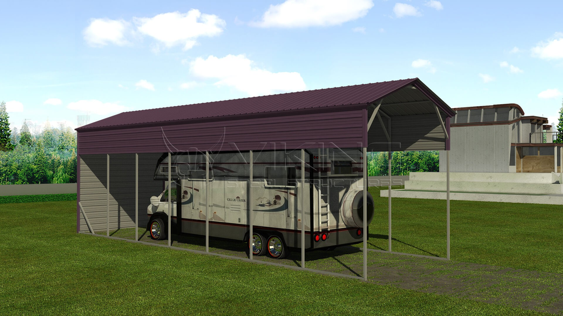 Small Metal Shelters : Metal rv shelter