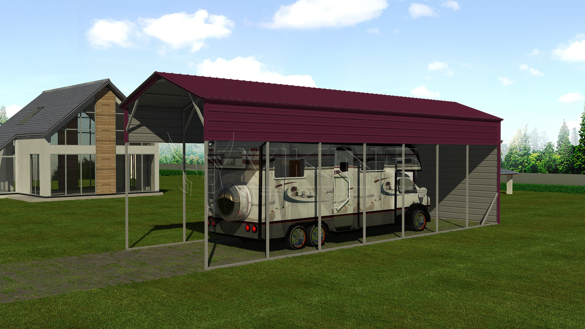 12x41-metal-rv-shelter-right-true-burgundy-image