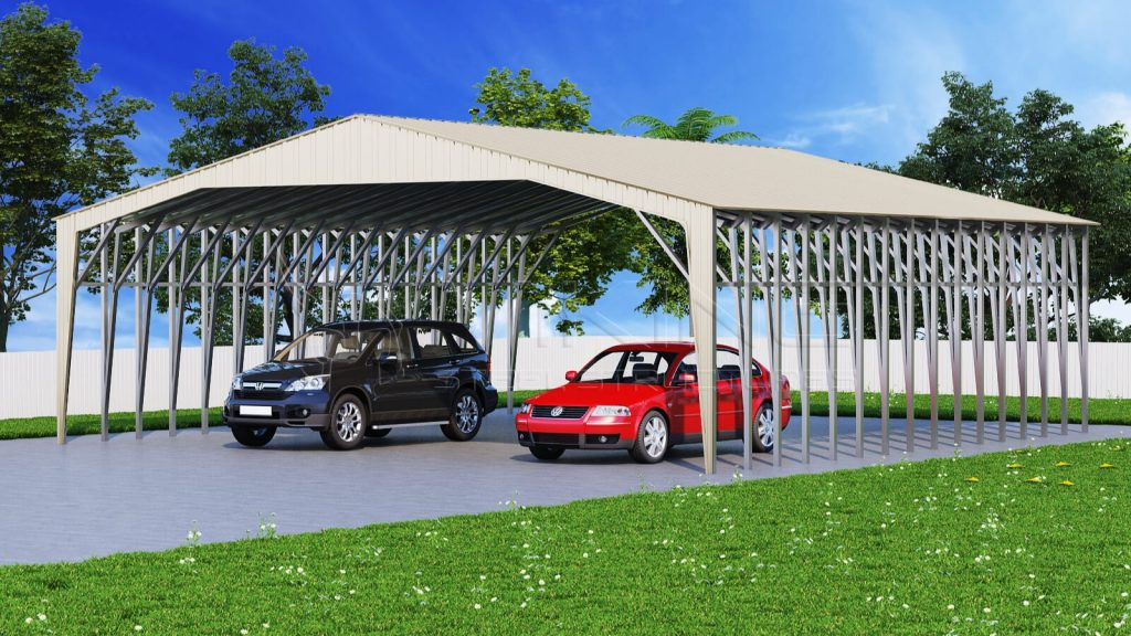 Vertical Metal Carport