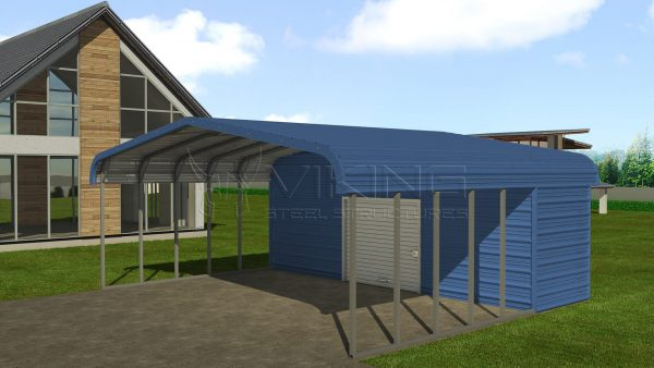 Custom Metal Carports : Custom metal buildings steel structures utility and