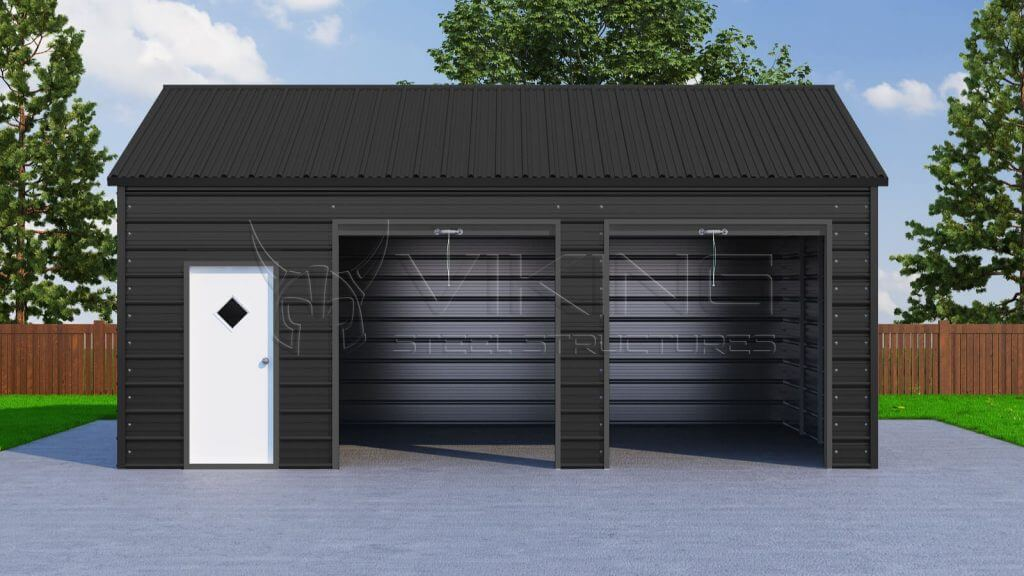 Metal garages side entry car garage prices steel garage for Side entry garage