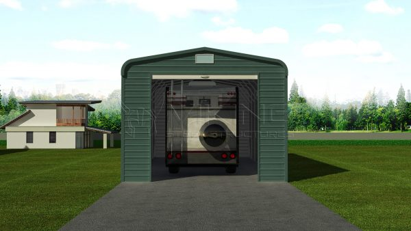18x41 Enclosed RV Shed