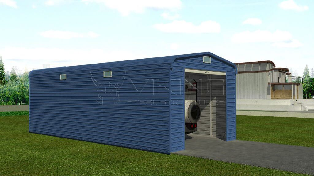 Enclosed RV Shed