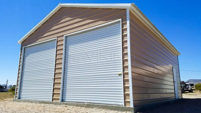 24x31x11 Vertical Roof Enclosed Metal Building