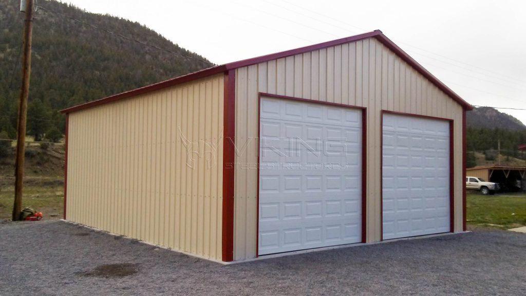 Two Car Metal Garage