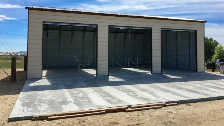 30x41x12 Side Entry Metal Garage