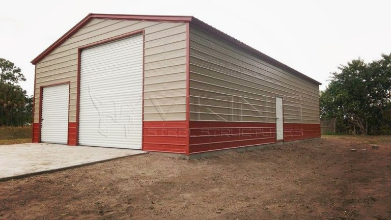 30x41 Enclosed Vertical Roof Garage