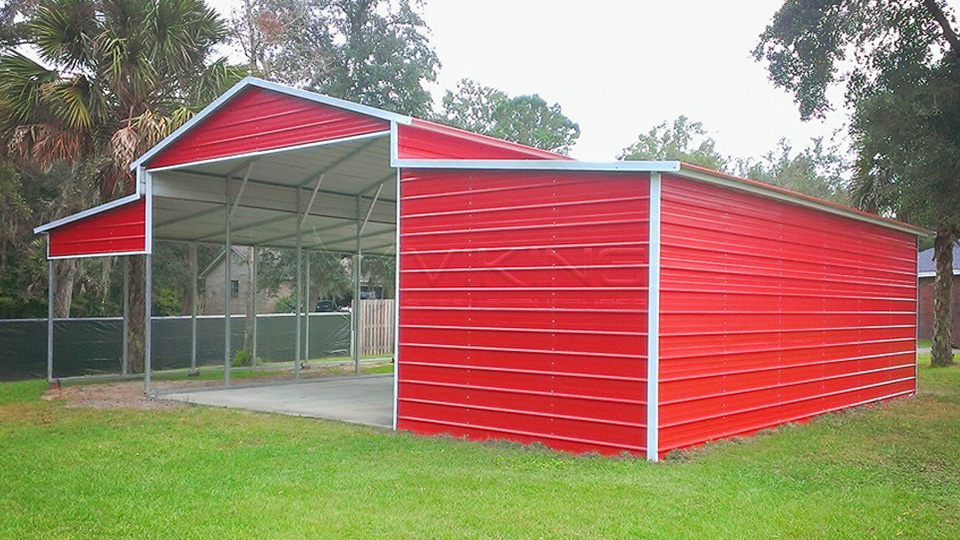 42x26 Red Metal Barn