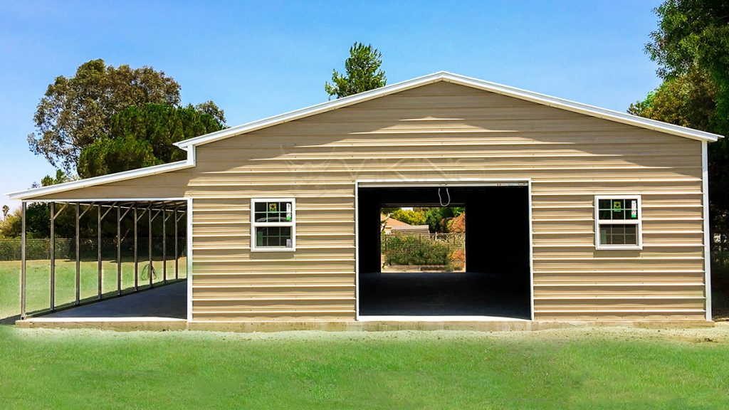 1 Car Garage With Lean To Carport : Metal lean to carport plans garage with