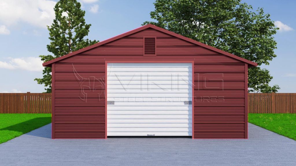 Boxed Eave Metal Garage