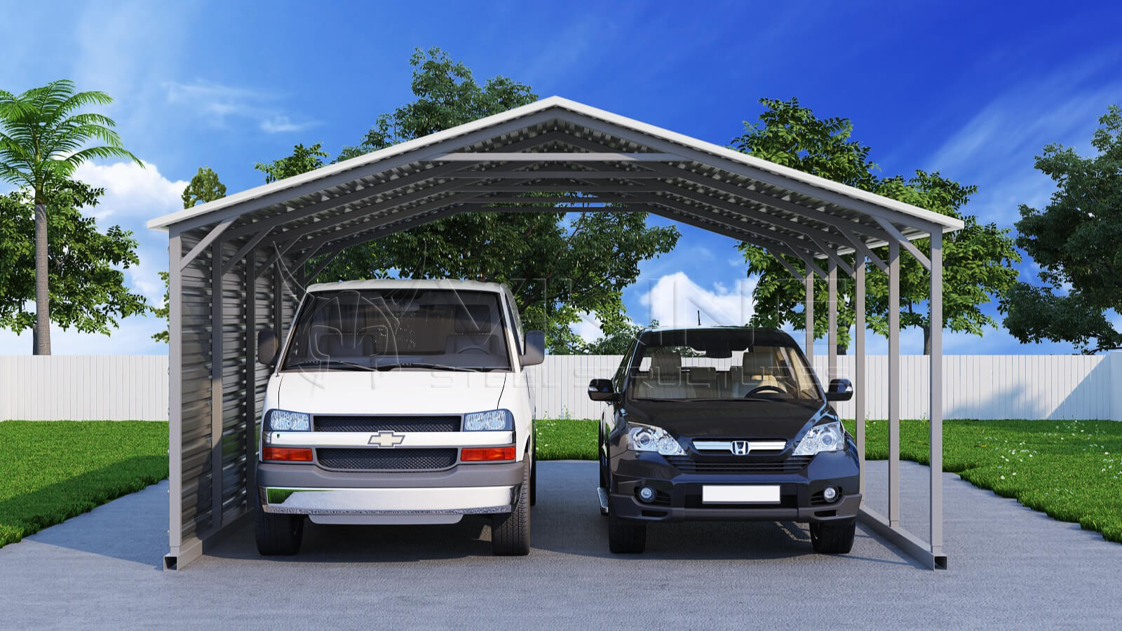 Great two car carport for your home design 2018 for 2 car carport plans