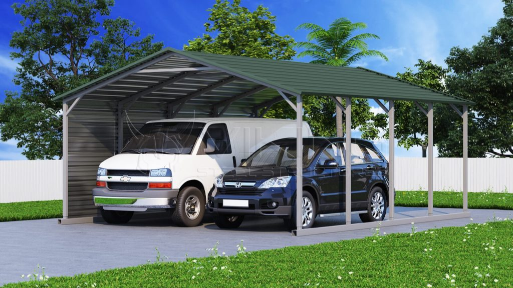 A-frame Metal Carport