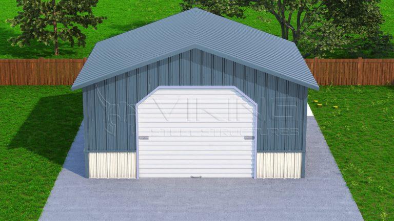 20x21 Vertical Roof Steel Garage