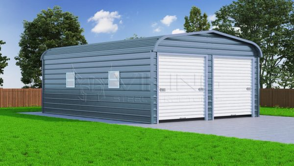 20x31 Two Car Steel Garage