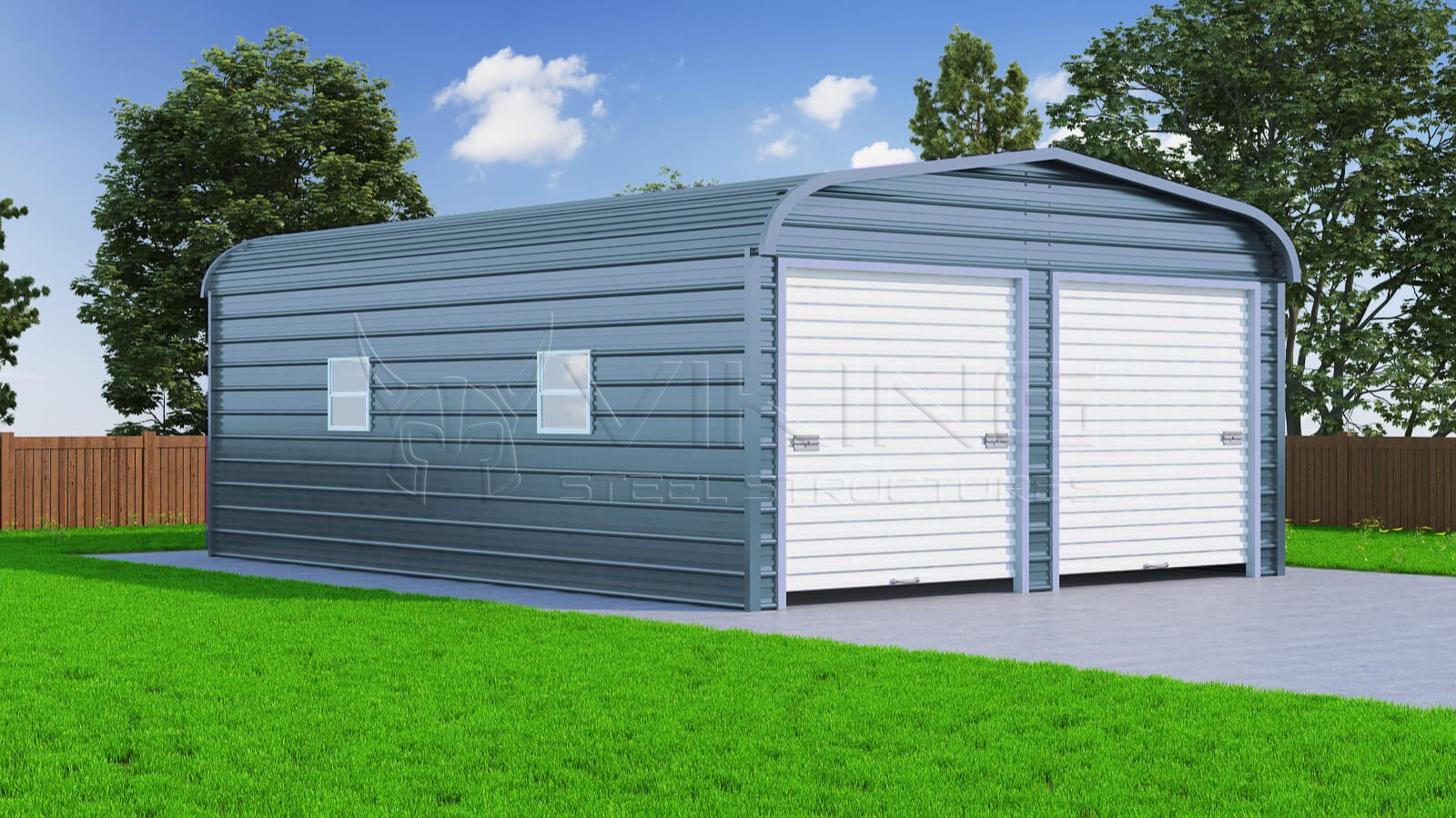 20x31 two car steel garage for Metal garage pics