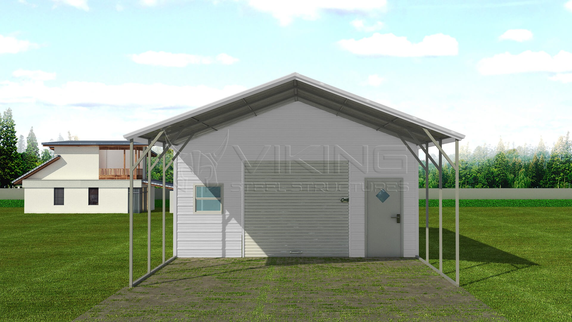 20x36 steel carport with storage for Carport with shed attached