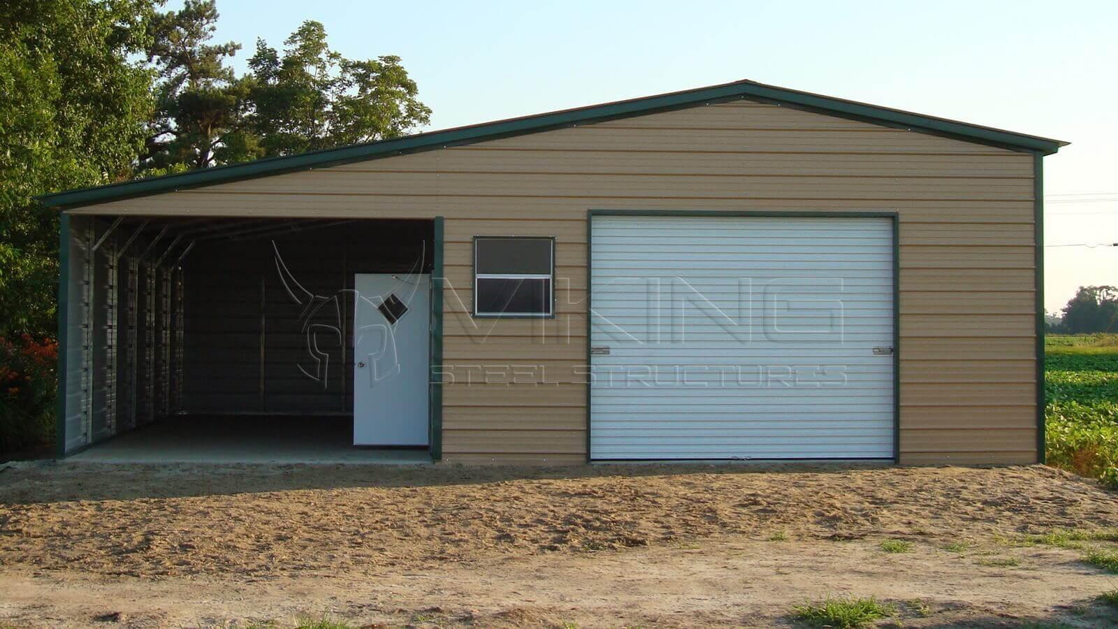 Fully Enclosed Carports : Viking steel structures metal carports barns garages