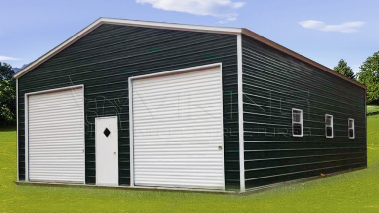 30x40x12 Vertical Roof Garage Workshop