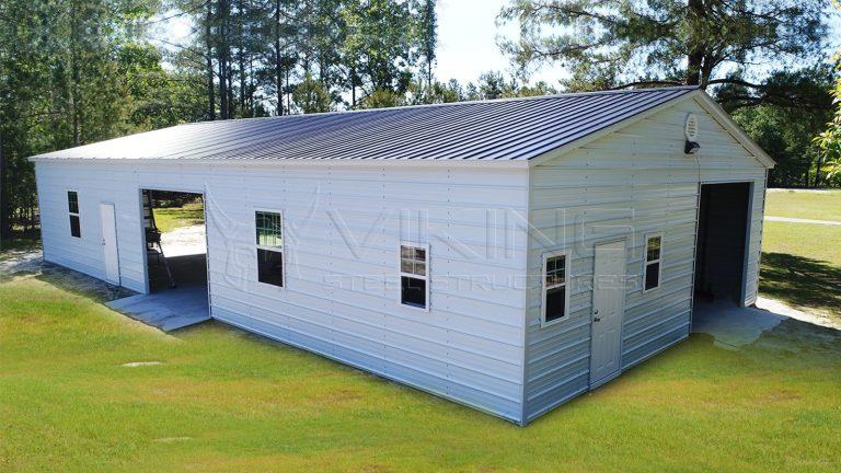 30x61 Fully Enclosed Steel Garage Workshop