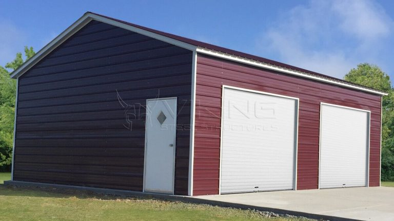 24x25x9 Side Entry Steel Garage