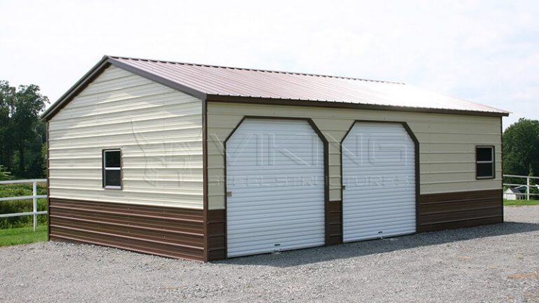 20X26X9 VERTICAL ROOF METAL GARAGE