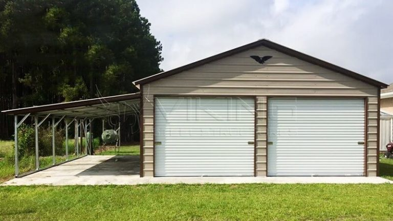 22X26X10 METAL GARAGE WITH LEAN TO
