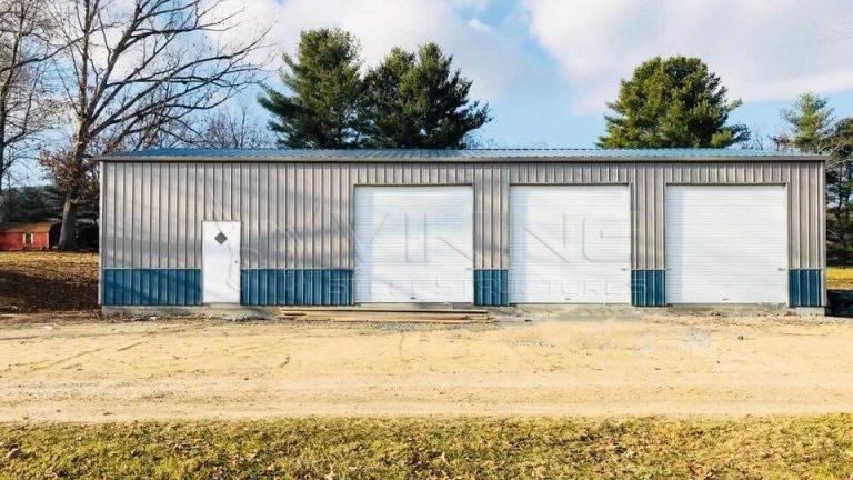 30x60x12 Enclosed Metal Garage