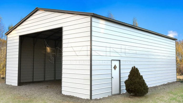 24 x 50 x 14 Enclosed Metal Garage
