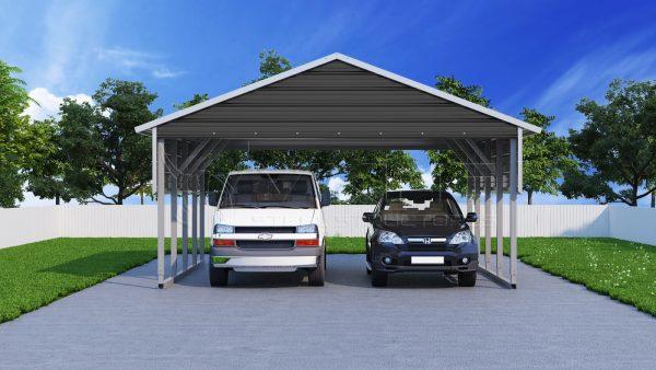 8 Car Metal Carport : Metal carports steel car port kits carport