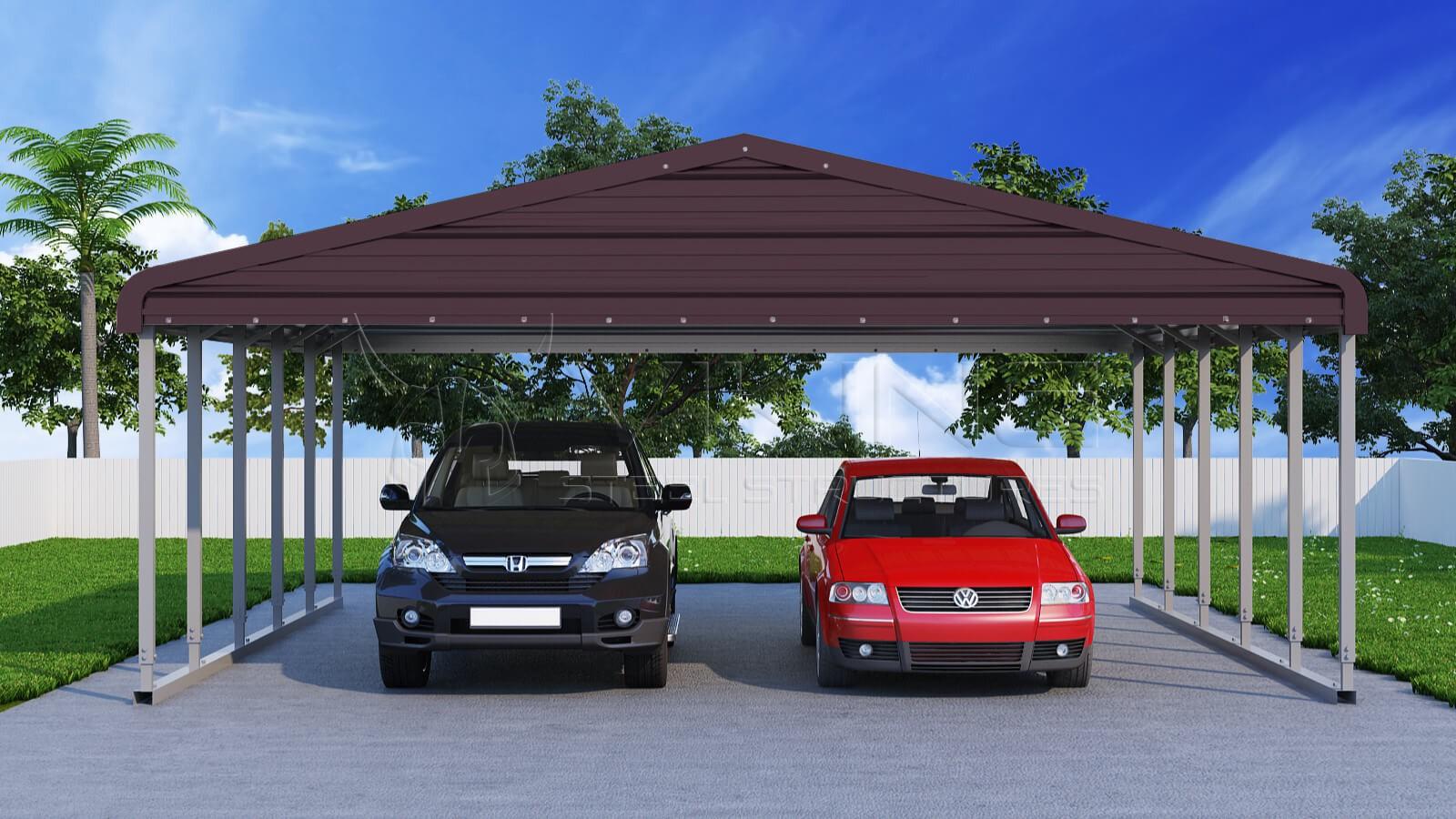 24x26-wide-steel-carport-front-vintage-burgundy-image