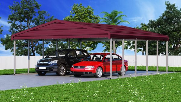 24x26 Wide Steel Carport