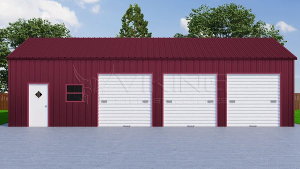 26x41 Three Car Metal Garage