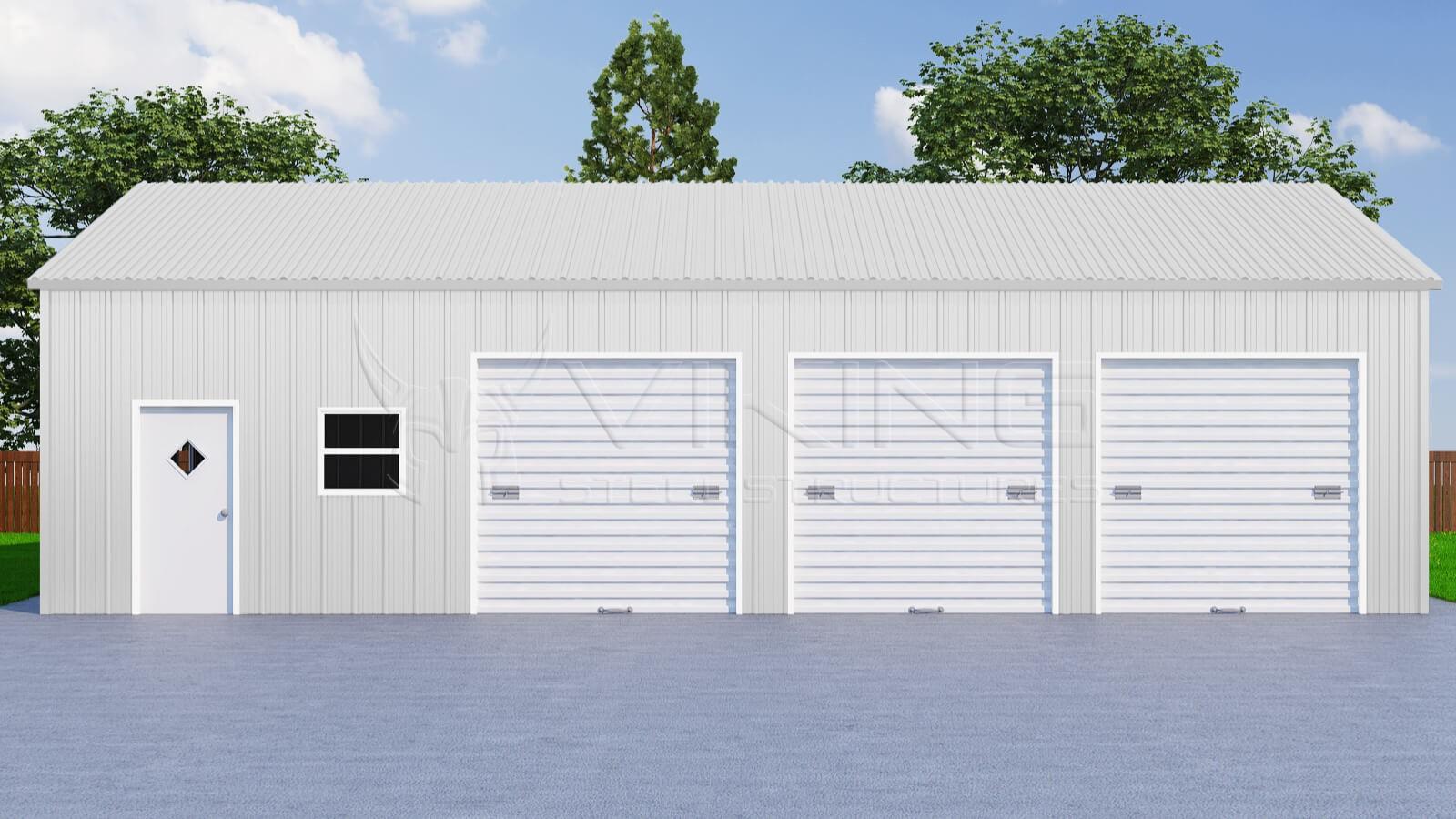 26x41 three car metal garage rubansaba