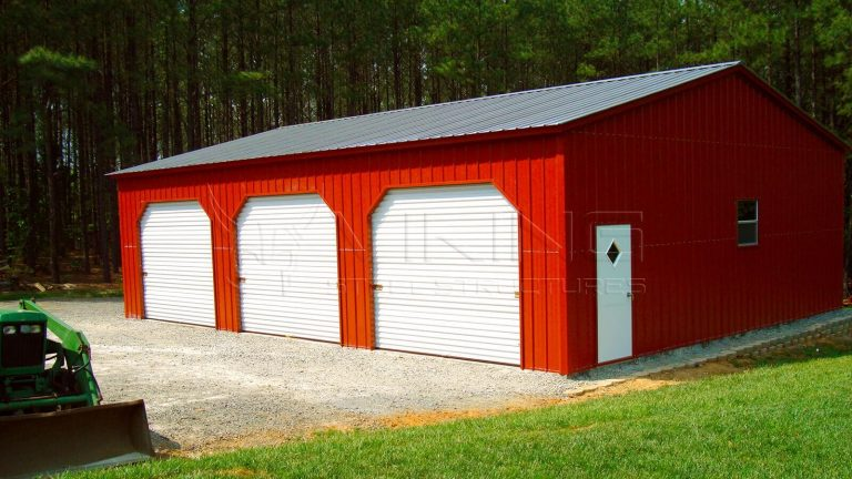 30x40x12 All Vertical Triple Wide Garage
