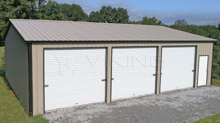 30x40 All Vertical Enclosed Steel Garage