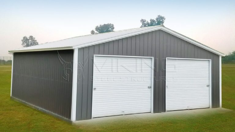 30x40 All Vertical Enclosed Garage
