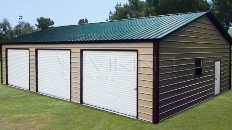 30x41 Vertical Roof Three Car Garage