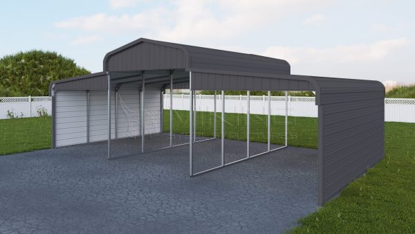 36x21 Metal Horse Barn