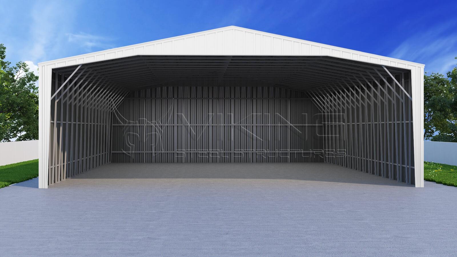 Enclosed Metal Carport : Enclosed steel carport