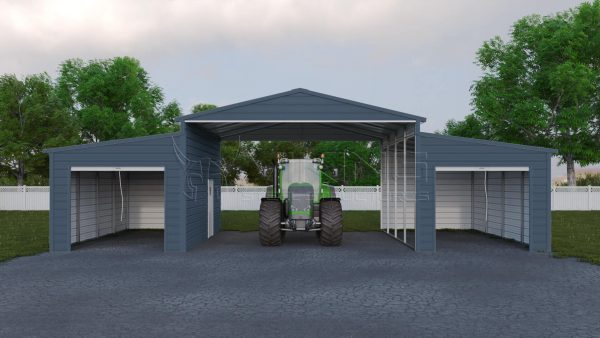 46x21 Raised Center Aisle Barn