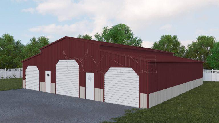 48x51 Fully Enclosed Carolina Barn
