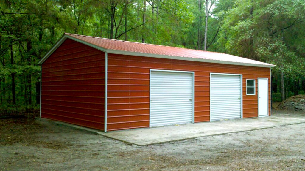 Vertical Roof Metal Garage