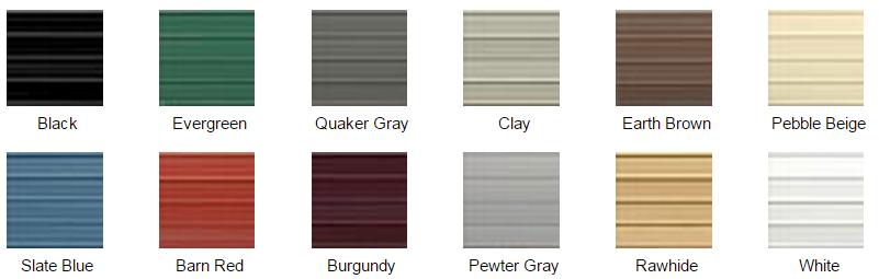 American Steel Carports Color Chart
