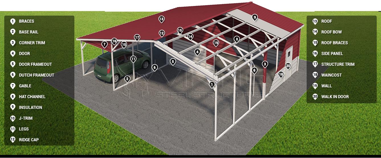 metal carport components