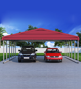 Regular Roof Metal Carport